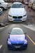 杭州汽車改色,寶馬530漆面改色貼膜,車身金屬藍莓改色膜