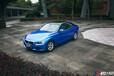 杭州寶馬320I貼膜改色金屬藍寶石,車身改色貼膜施工效果