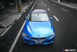 杭州汽車改色貼膜,奔馳GLK300車身改色貼膜電光青霧藍施工效果