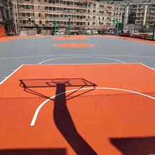 體育場塑膠地面籃球場塑膠地面硅PU球場建設選康力