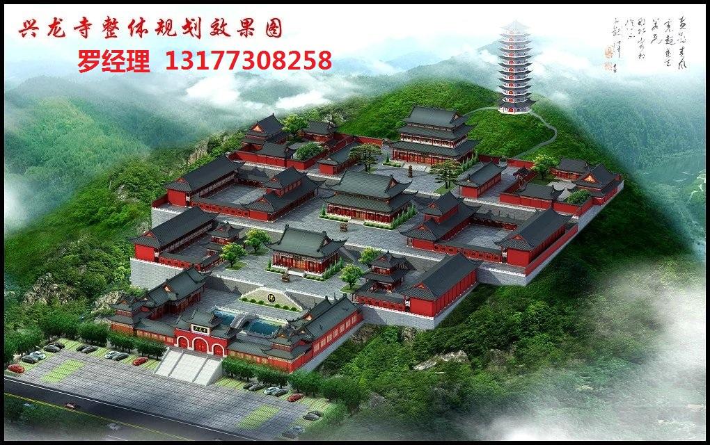 寺庙规划平面图寺院平面效果图中国寺庙布鸟瞰