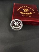 a999纯银工艺品加工定制纯银纪念币西安企业单位周年庆为员工颁发银条银币图片