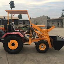 全新轮胎式挖掘机,唐山小型挖掘装载机什么价格?图片