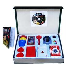 魔术道具套装8种魔术带教学视频光盘高档玩具礼盒魔术道具批发
