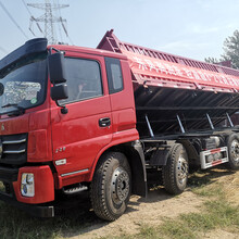 东风原厂8x2轻量化公路自卸车,前四后六平板货车偏翻自卸车图片