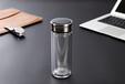 加汇时尚玻璃水瓶印字广告杯礼品杯高档水晶玻璃印LOGO玻璃杯厂家