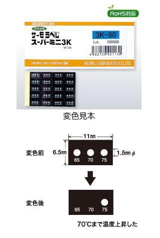 日本原装日油技研NIGK感温测试纸3K-40、3R-100