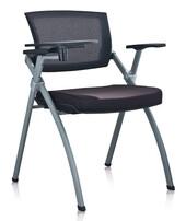 网布培训椅,带写字板培训椅,带写字板椅子,广州培训椅图片