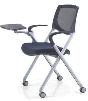 高档折叠培训椅,带写字网布培训椅 ,品牌培训椅,带写字板会议椅图片