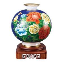 供北京景泰蓝镶玉大师天圆地方花瓶图片