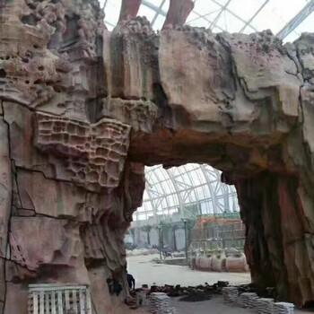 庆元做假山塑石假山假树精品雕刻