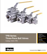 派克TPB系列三片式球阀parker三片式球阀