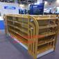 天津钢木结合超市货架进口商品货架正豪货架厂