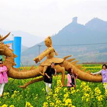 稻草人艺术设计报价各种稻草体型布展免费设计