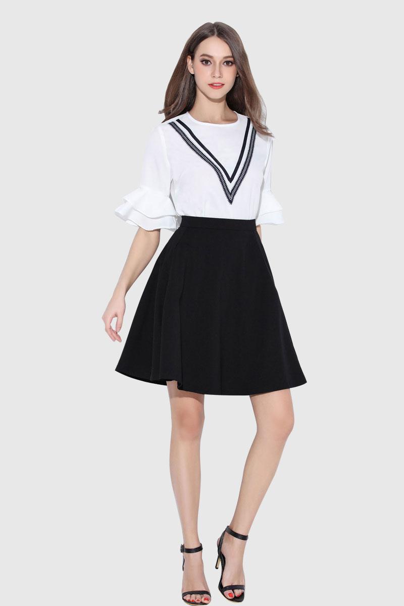 方领打底衫批发哪家质量好服装批发市场供货商女装代理加盟歌芬