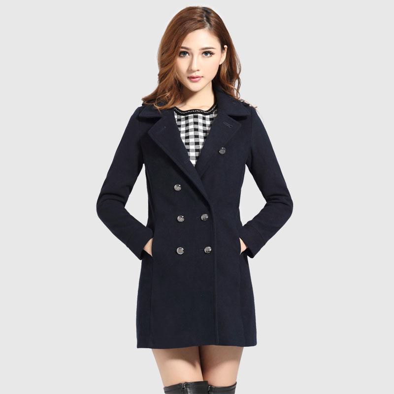 热销2013年冬季服装新款女装羊毛呢大衣欧美保暖中长款女式风衣图片