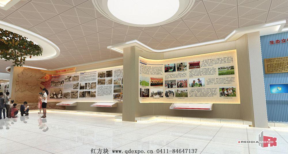 党性教育基地设计图纸基层党建文化长廊建设案例图片