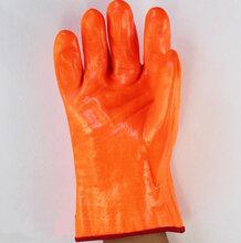 荧光PVC防冻手套,低温ξ手套冷库,加油站,低温研磨冷冻储藏室等低温防护手套图片