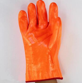 荧光PVC防冻手套,低温手套冷库,加油站,低温研磨冷冻储藏室等低温防护手套