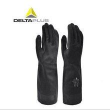 氯丁橡膠手套代爾塔201510防強酸手套,汽車噴涂防化手套,皮革處理化學防護手套圖片