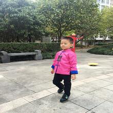 台州厂家直销秋冬唐装棉衣小中大童撞色外套8812