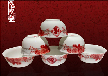 景德镇婚庆陶瓷餐具定制定做寿辰寿宴碗厂家价格
