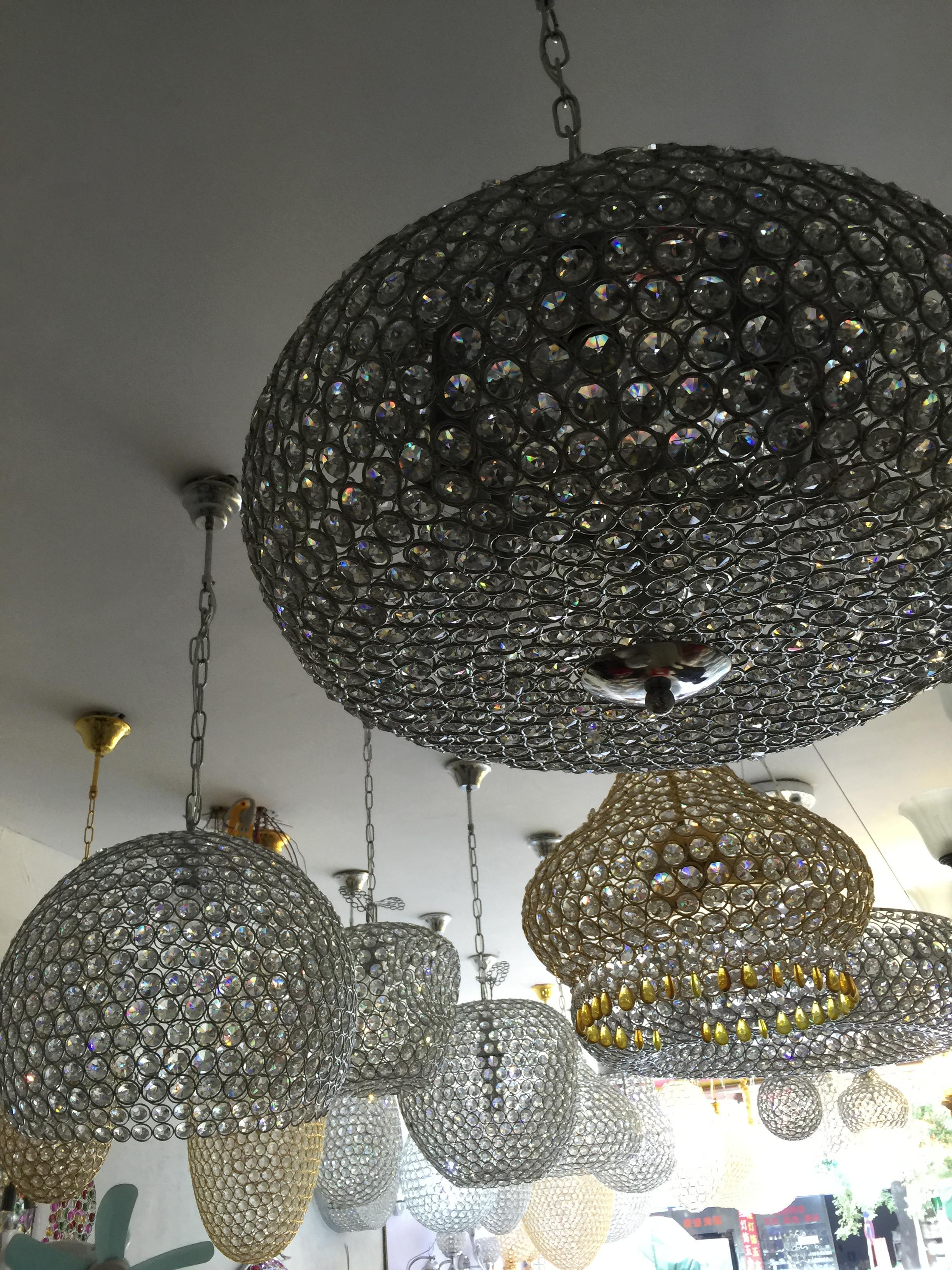 新款酒店中空吊灯厂家批发LED烟火花灯天棚中庭LED满天星星圆球吊灯