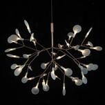 后现代创意展厅大吊灯别墅餐厅moooi树枝独活叶子萤火虫灯具装饰图片
