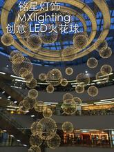 广东中山烟火灯厂家批发创意现代服装店中空酒店大堂大厅圆球形LED烟火灯图片
