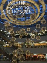 中庭吊灯生产厂家批发双鸭山美术博览馆星星点点创意异形吊灯批发图片