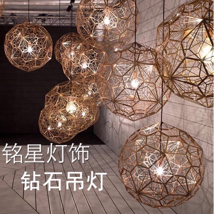 广东中山球灯厂家批发龙岩铭星新款星星灯厂家批发LED星星灯婚宴会所餐厅中空新款吊灯