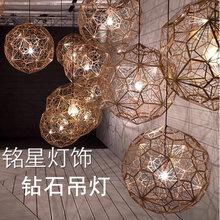 邵阳广东中山创意精品不锈钢球中庭吊灯满天星球中庭吊灯图片