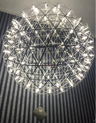 新款吊灯KTV中空LED创意时尚吊灯价格moooi烟火花火酒店吧台LED吊灯餐厅中空吊灯创意个性灯具酒店商场星球火花艺术吊灯