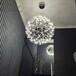 现代工业风简约艺术地中海创意时尚不锈钢圆球吊灯厂家批发新款钻石球吊灯酒吧吧台会所灯饰灯具