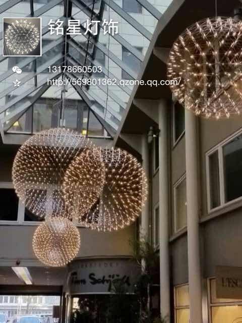 中山新款LED星球灯厂家铭星灯饰批发新款创意LED星星星空星球舞蹈室新款艺术吊灯具