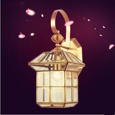 家用欧式全铜壁灯客厅灯具卧室床头墙壁美式铜灯过道走廊壁灯饰