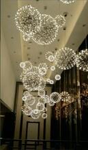 株洲市株洲市酒店中空商场中庭灯具厂家满天星球吊灯具中庭景观火花球吊灯图片