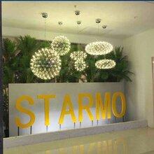 呼和浩特市呼和浩特市酒店中空商场中庭灯具厂家满天星球吊灯具中庭景观火花球吊灯图片