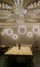 商洛市商洛市酒店中空商场中庭灯具厂家满天星球吊灯具中庭景观火花球吊灯图片