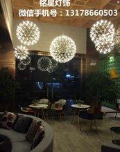 营口市营口市酒店中空商场中庭灯具厂家满天星球吊灯具中庭景观火花球吊灯图片