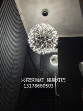 通化市通化市酒店中空商场中庭灯具厂家满天星球吊灯具中庭景观火花球吊灯图片