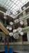 酒店圆球吊灯武汉图书馆中庭简约现代灯具中庭发光设计蚀刻金色厂家直销大堂吊灯价格