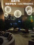 创意个性餐厅吊灯简约led火花球烟火花满天星空灯咖啡厅吧台客厅吊灯图片