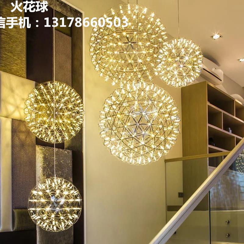铁岭美术博览馆星星灯中庭星球灯创意中厅球形吊灯艺术满天星吊灯