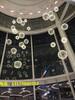 中庭景观设计吊饰新款LED火花球吊灯创意中庭挂饰商业中庭美陈生产厂家铭星灯饰