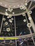 中庭景观设计吊饰新款LED火花球吊灯创意中庭挂饰商业中庭美陈生产厂家铭星灯饰图片