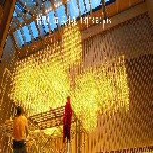 光立方led灯工程定制大型酒店大堂会所方格架子造型吊灯别墅复式楼豪华满天星吊灯图片