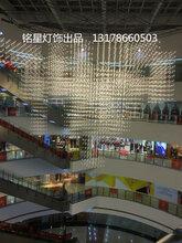 LEDcube空间艺术吊灯光立方售楼部沙盘中心光立方灯酒店吧台样板房满天星led吊灯图片