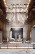 专业定制工程灯大厅LED满天星方格吊灯售楼部沙盘区光立方吊灯厂图片
