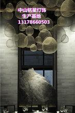 铭星哑黑复古风不规则球形灯云朵灯中餐厅博物馆展厅专用灯图片